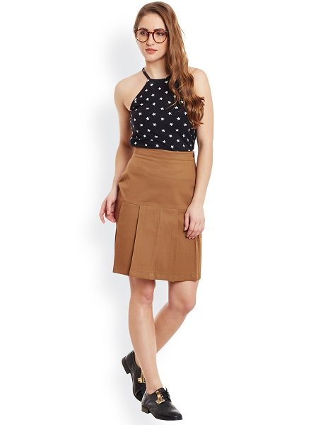 Brown Formal Skirt