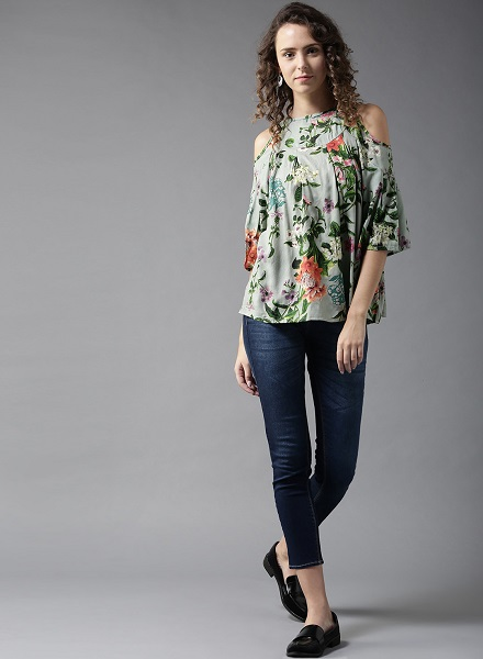 Cold Shoulder western top