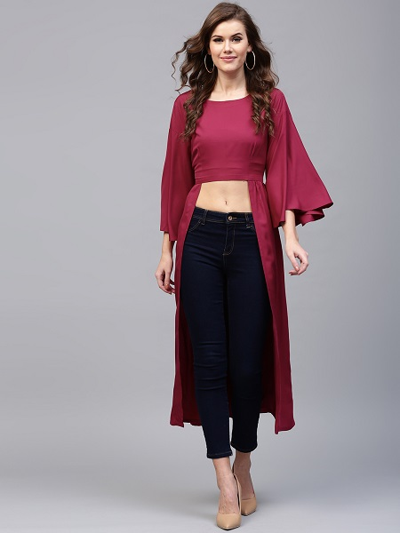 Cropped Maxi Top