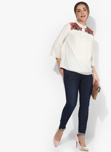 Embroidered Jabong Tops
