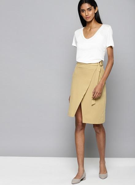 Formal Wrap Skirt