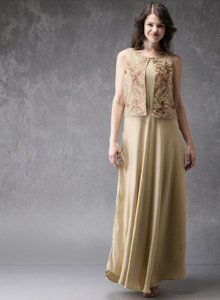 Long Gown Type Kurti with Jacket