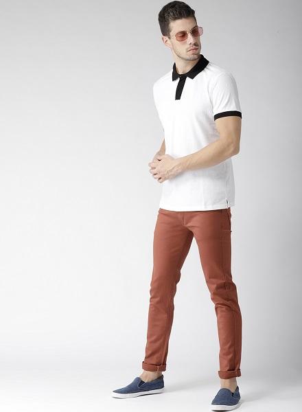 Men rust jeans