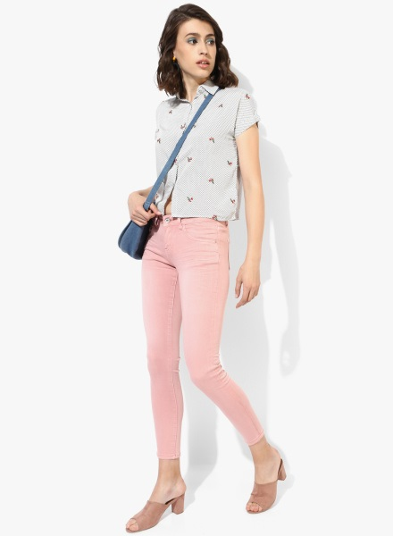 Nude pink jeans Women