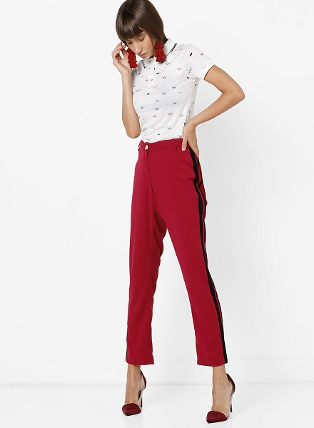 Office Ready in a Printed Polo T-shirt