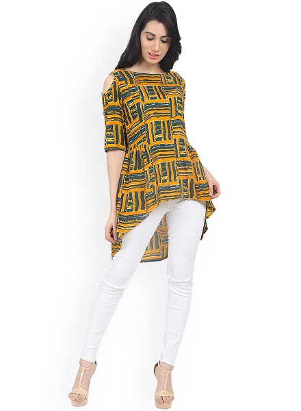 Oversized Printed Long Top