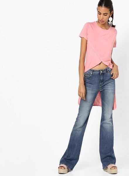 Pink High Low Top