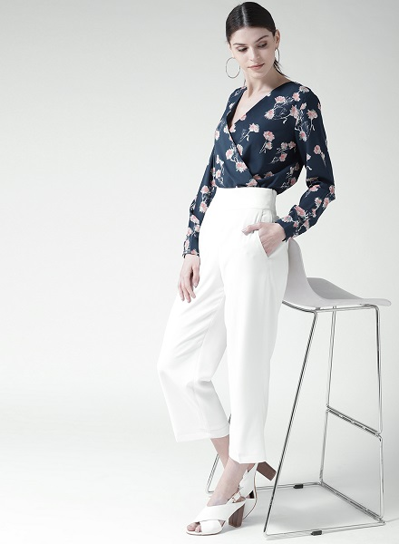 Printed Shirt Top with Trousers