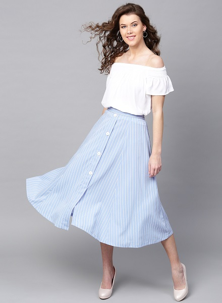 Retro Flared Skirt