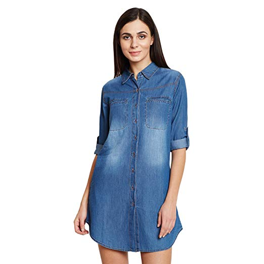 Shirt Style Denim Kurti Design