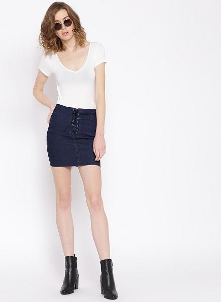 The Short Denim Skirt