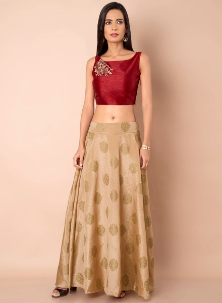 Silk Crop Ethnic Top