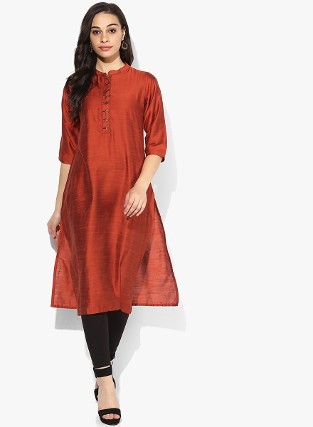 Silk kurta with jeans