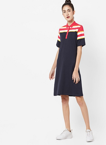The Girl Next Door Style with a Polo T-shirt Dress