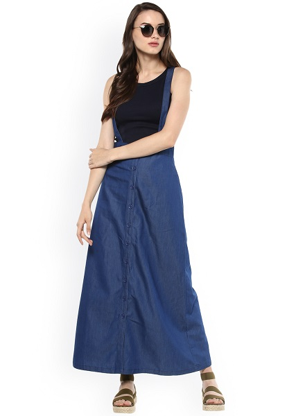 The Pinafore Denim Skirt