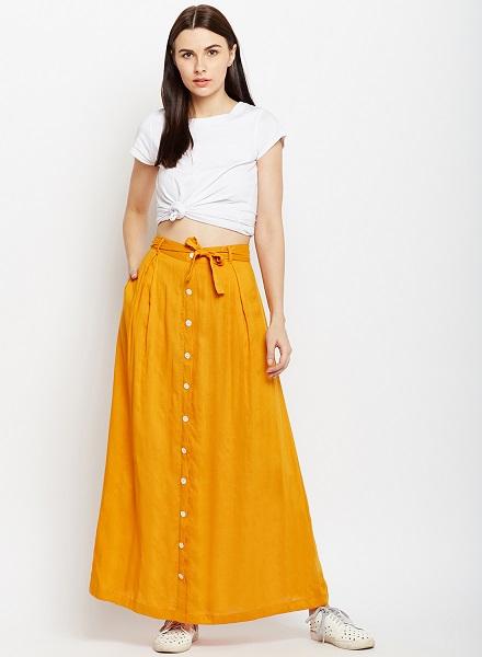 A Line Long Skirt