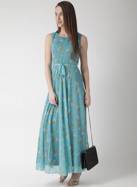 Blue Maxi Floral Dress