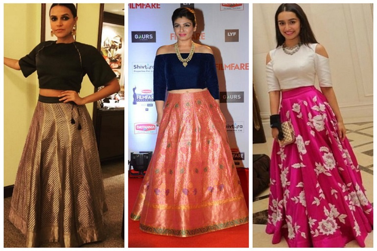9 Ways to Style Crop Tops with Skirts for Weddings