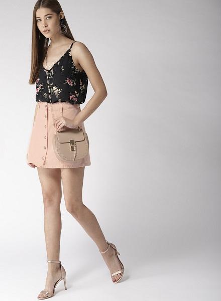 The Coloured Denim Skirt