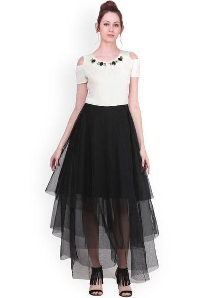 Black Embellished Net Dress