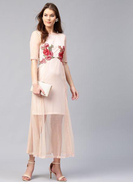 Empire Line Net Dress