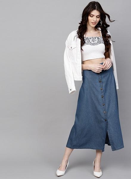 The Long Denim Skirt