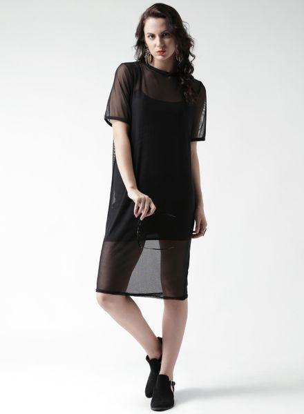 Shift Net Dress