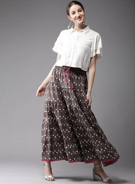 teired long skirt