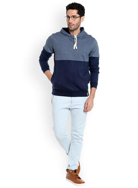 Colourblocked Pullover Hoodie