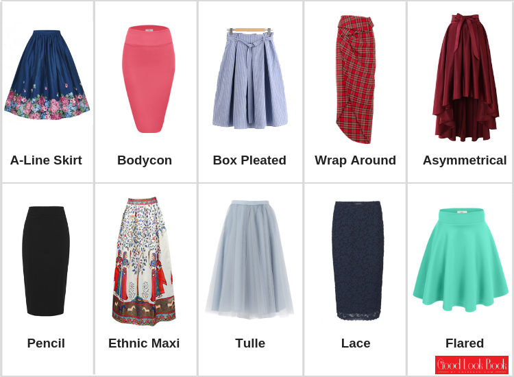 Different Types of Skirts with Names and Pictures