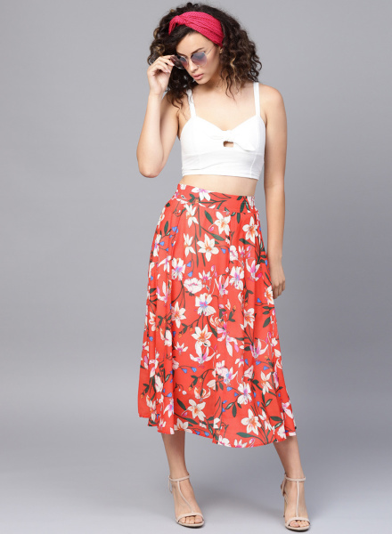 Floral A-Line Skirt - Different Types of Skirts