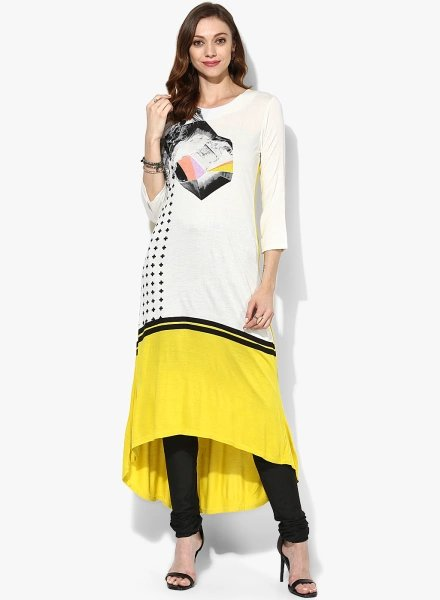 The High-Low Combination W Kurti