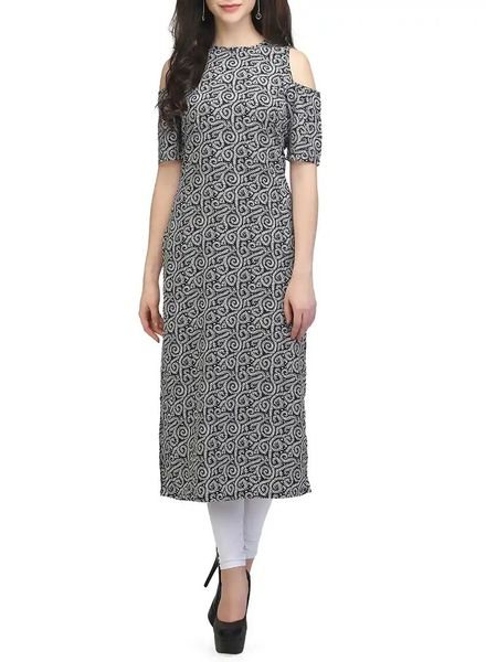 Cold-Shoulder Kurti