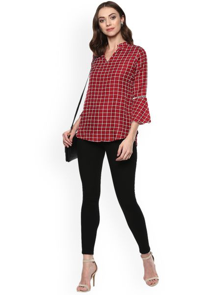 Classic Red Tunic Top