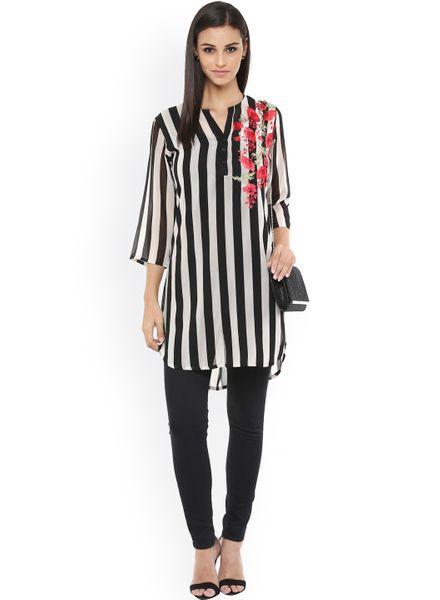 Sassy Striped Tunic Top