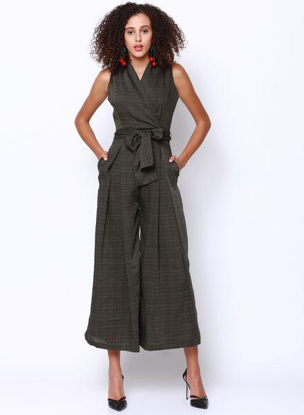 Tie-Waist Culotte Jumpsuit