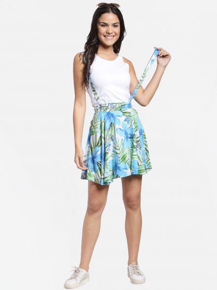 Flared Dungaree Skirt
