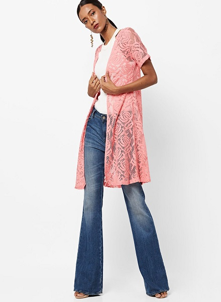 long shrug with jeans