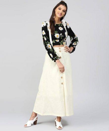 Long Dungaree Skirt