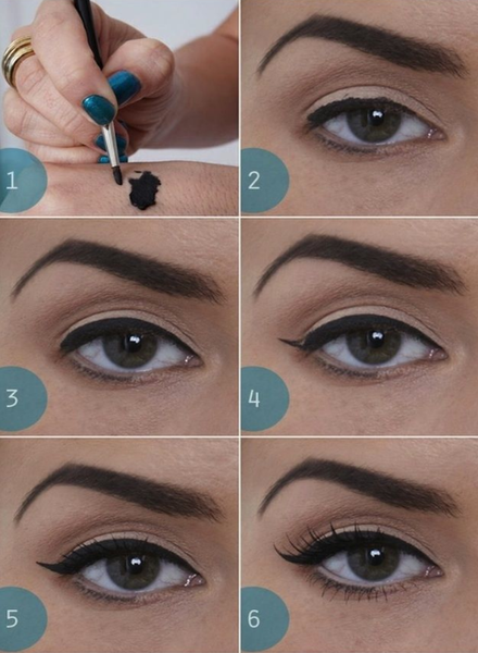 How to apply flicked eyeliner?