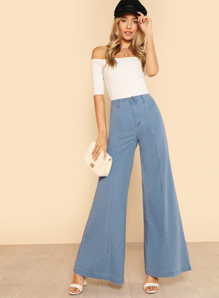 Skinny High Waisted Flare Jeans