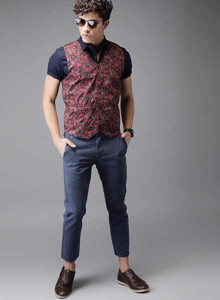 How to Wear Printed Waistcoat with Jeans