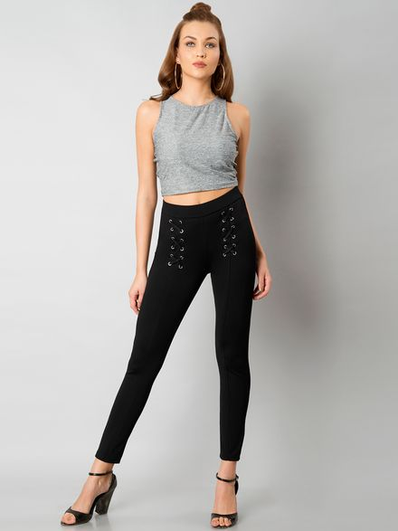 Jeggings with Crop Top