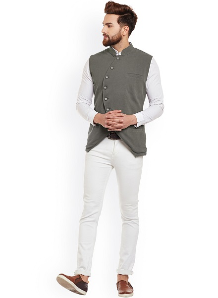 How to Wear Single Breasted Waistcoat with Jeans