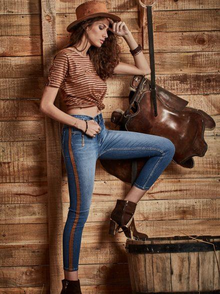 Panel Skinny Jeans