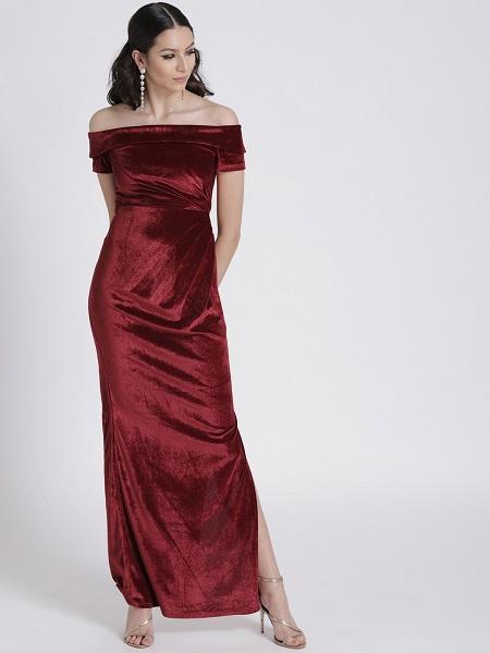 Off-Shoulder Maxi Dress