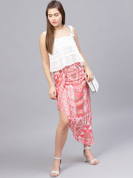 Wrap Around Skirt And Top