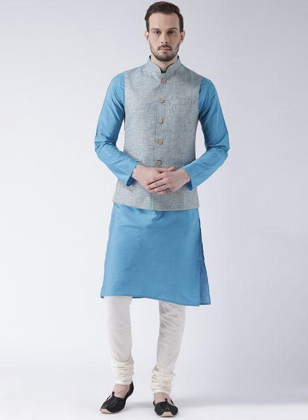 Banarasi Kurta Pajama With Woven Jacket