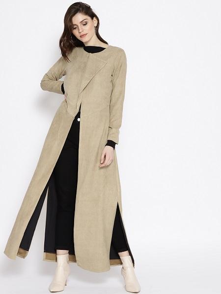 Front-slit Overcoat