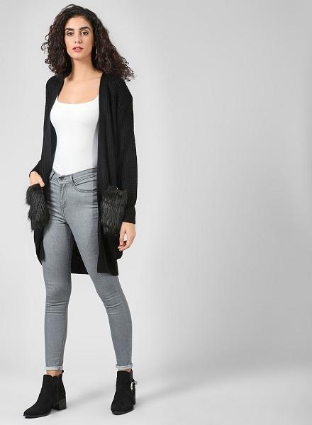 How to wear cardigan as an outwear jacket